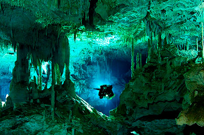 Scuba dive in the Mayan underworld