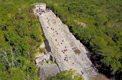 Coba, a mayan city hidden in the jungle