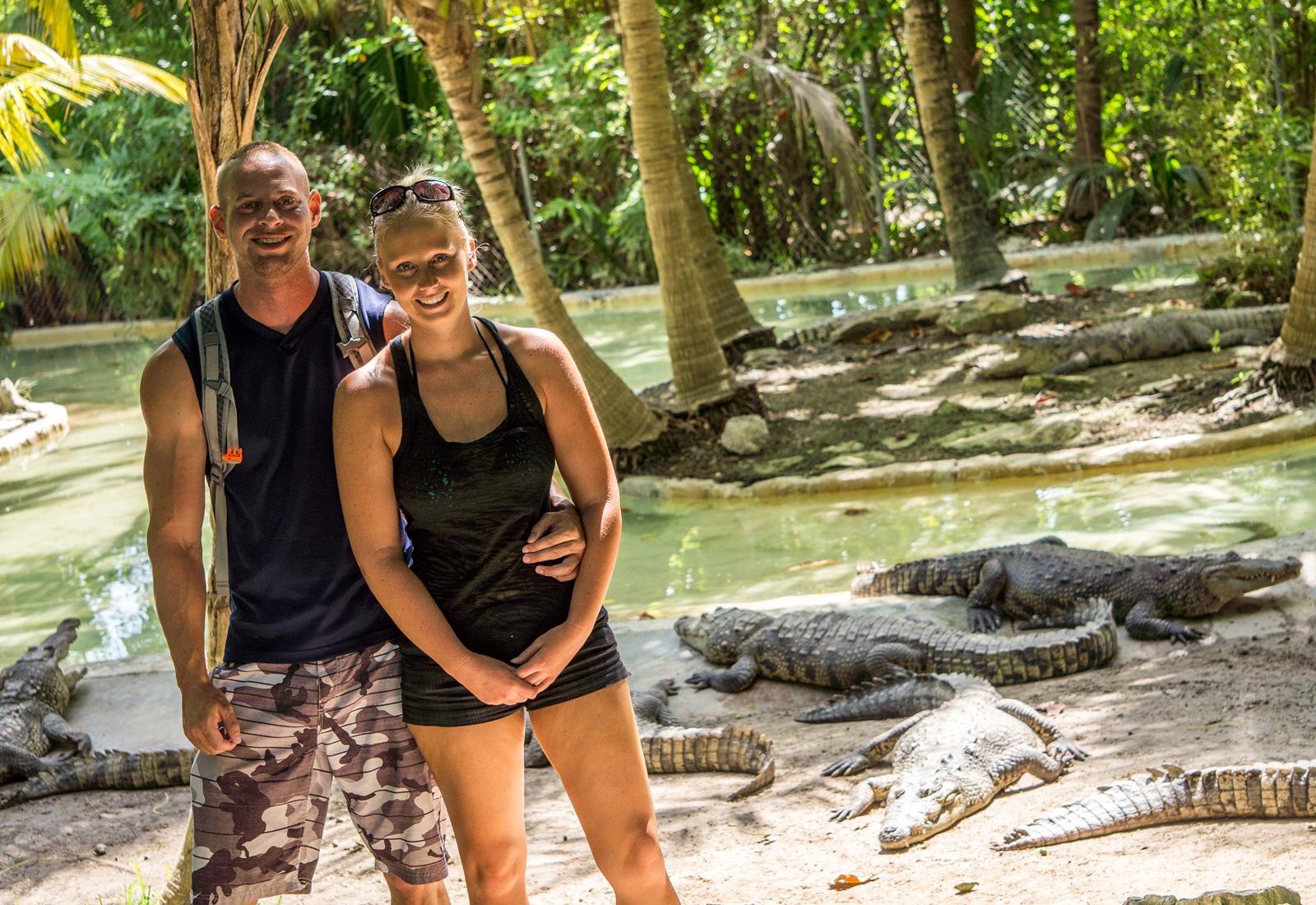 Crocodriles zoo near Cancun