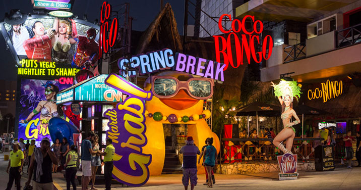 Night clubs, Coco Bongo Zone Punta  Cancun