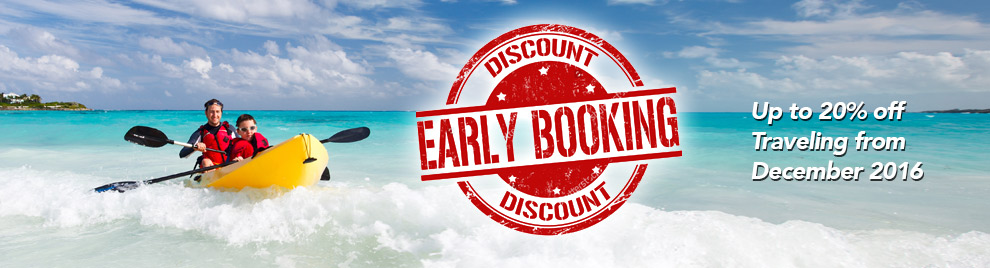 Early booking discounts on tours
