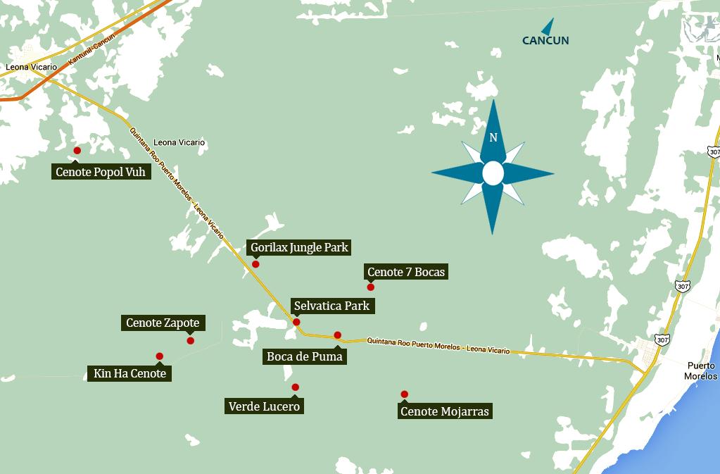Cenotes route