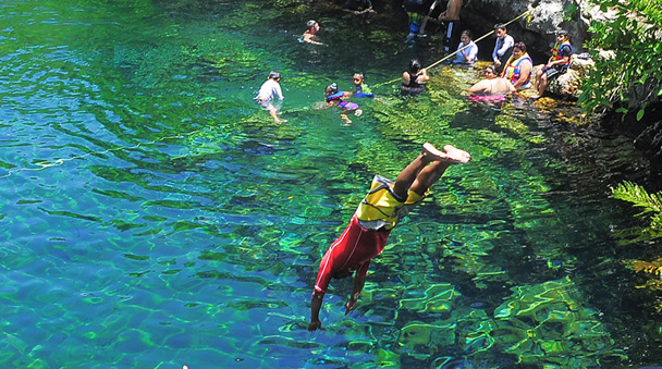 Cool off at the Cenotes after a great ATV stroll