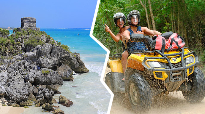 Combo tour All Terrain Vehicles and Tulum Mayan Ruins
