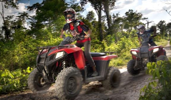 ATV and zipline extreme activities