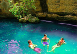 cool off in a beautiful cenote