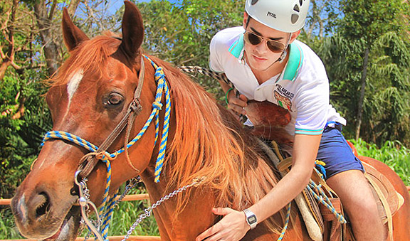 Horse ride at Bonanza Ranch Cancun