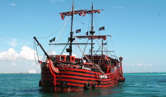 The Black Pearl Pirate Boat