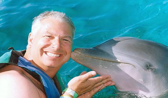 Have fun and let the dolphin pamper you
