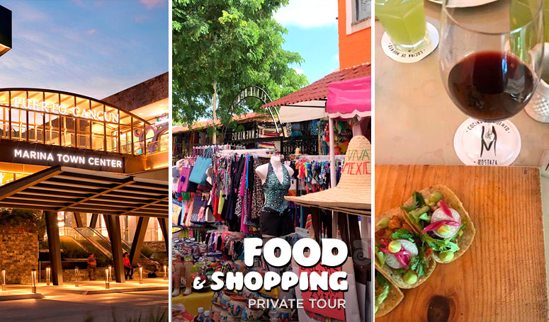 Food taste and Shopping in Cancun Private Tour
