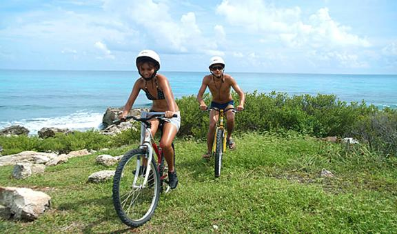 ride a bike and learn about Isla Mujeres