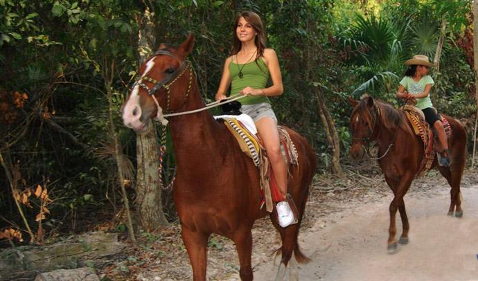 Horse Back Ridding At Riviera Maya