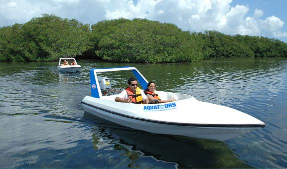 get trilled aboard speed boat