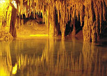 Underground rivers and stalactites