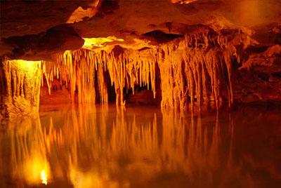 Rock formation in a magic underworld