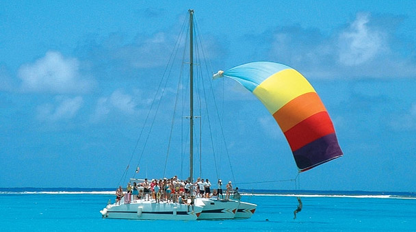 Catamaran en playa Maroma