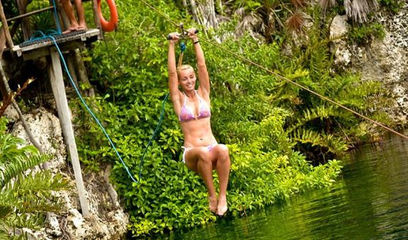 Fly to the cenote