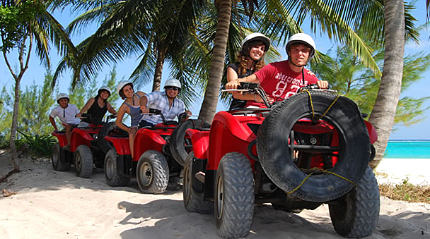 an atv in the maroma paradise