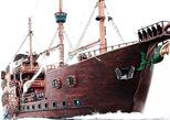 show pirata en el barco galeon
