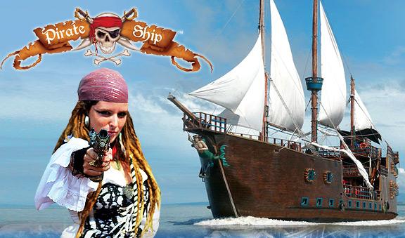 El ultimo show pirata nocturno en Cancun