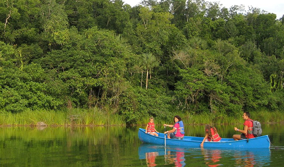 Canoeing on the lagoon