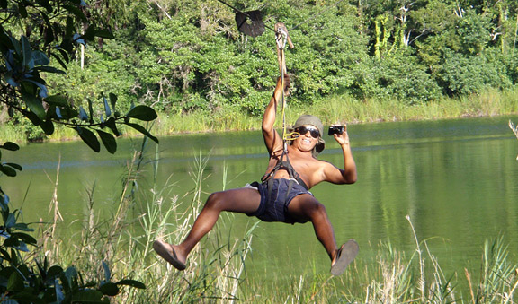 Punta laguna zipline activity