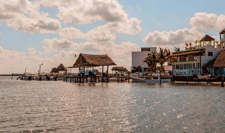 Rio Lagartos town at Yucatan