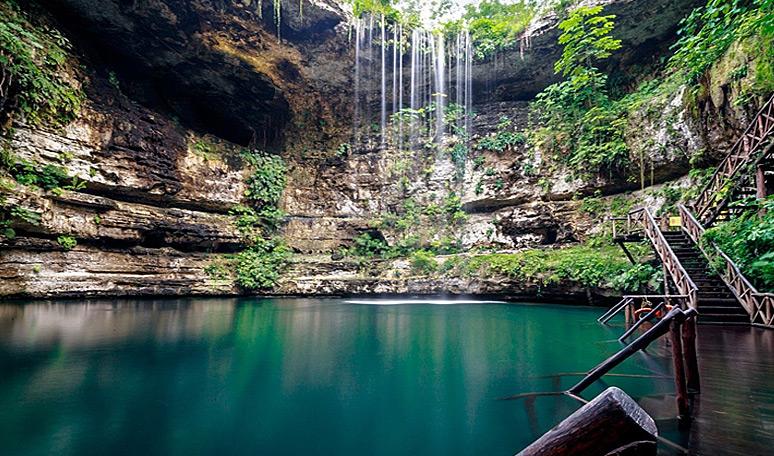 Cenote Saamal at Selva Maya Hacienda