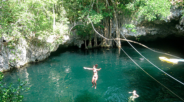 Jump into the selvatica cenote