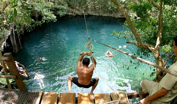 Swimming into beautiful Cenotes