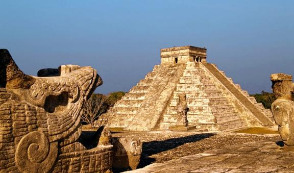 An ancient Mayan city