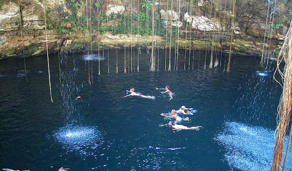 Swim into the most beautiful Cenote called Ik kil
