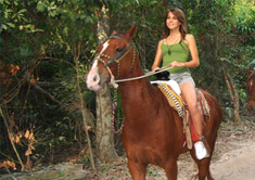 Horse back ridding at Riviera Maya