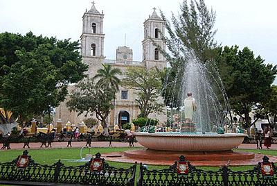 Centro historico en Valladolid Yucatan