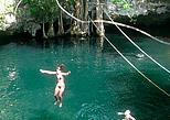Jump into the selvatica cenote