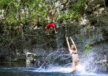 Fly away and deep yourself into the cenote land