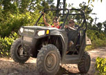 Drive an ATV until you find de zipline