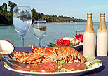 Enjoy a delicious lobster lunch
