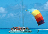 Catamaran in Maroma beach