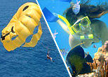 Parasailing Parachute and Snorkeling in Playa Maroma