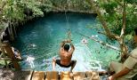 jump into a cenote in the middle of the jungle
