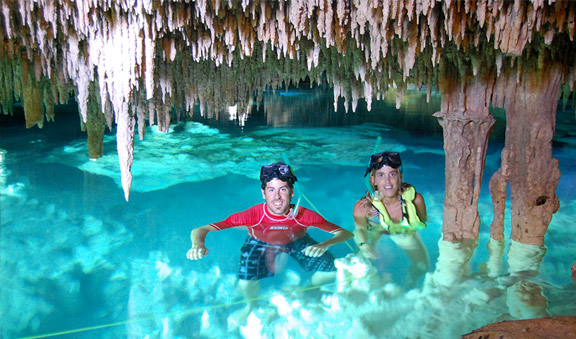 Swimming into cenotes