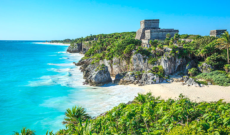 Ocean view through Mayan Ruins