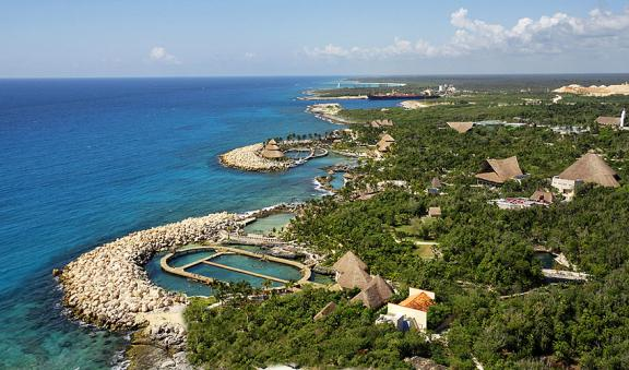 Xcaret an aerial view