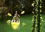 Kayak or inner tube in the Cenote