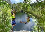 Zip line Cenote landing