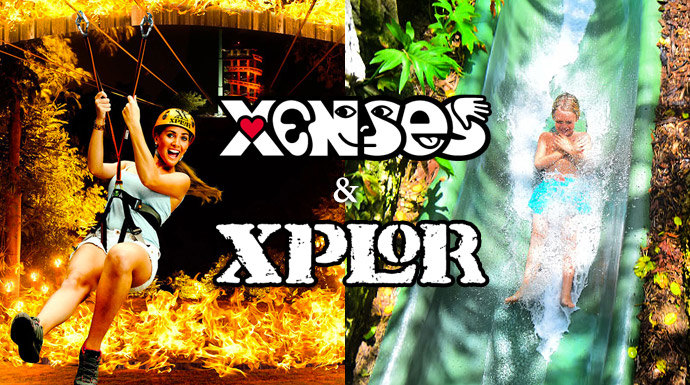 Combo tour 2 parks in one day, Xenses and Xplor fuefo