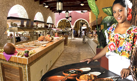 Restaurant buffet in Valladolid