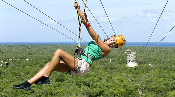 ... One of the higher zip lines in Xplor ...