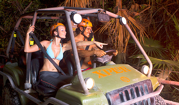 Drive a ATV into mysterious caverns and caves